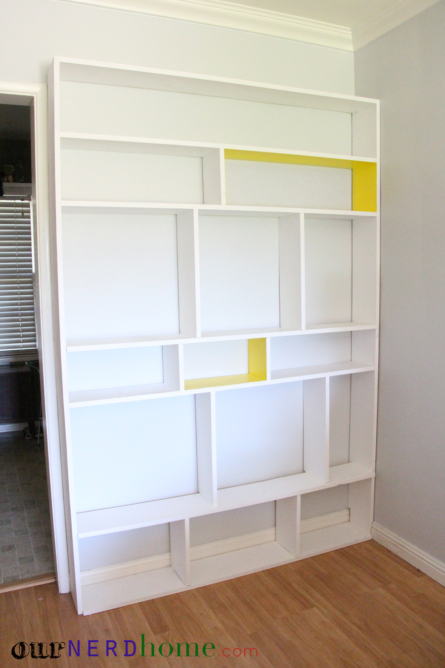 Diy bookcase before our nerd home for Easy to make bookcase