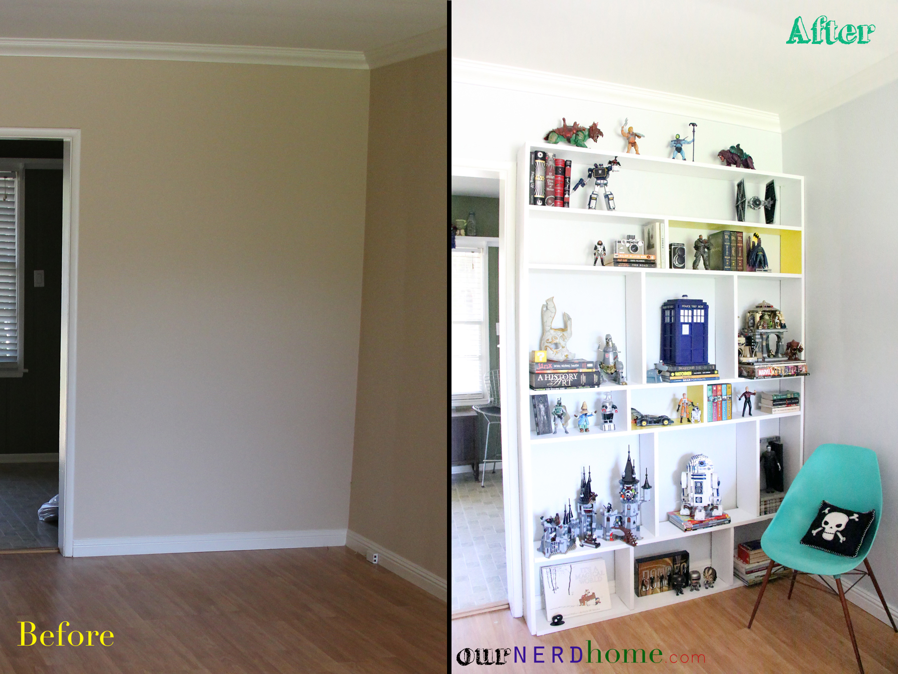 The easiest cheapest built in bookcase move over IKEA