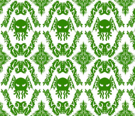 Cthulhu Damask Fabric