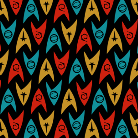 Star Trek Badge Fabric