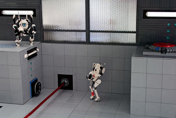 Portal 2 Lego Diorama Model