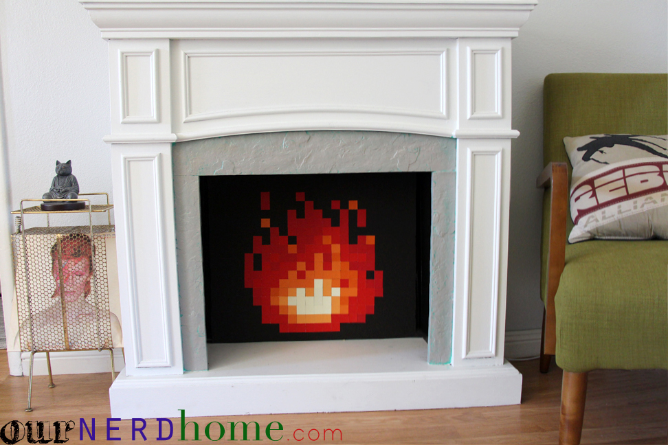 Diy legend of zelda 8 bit fire in our fireplace total for 8 bit decoration