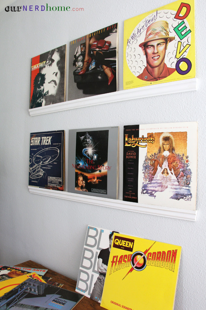 Geek Home Decor - Crown Moulding LP Record Shelves