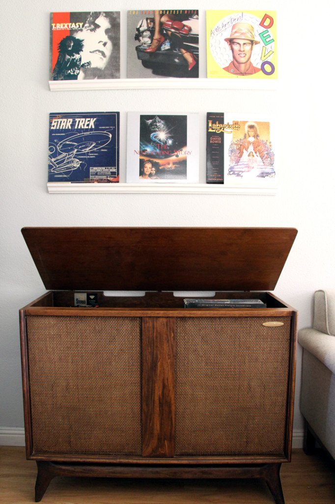 diy record shelves