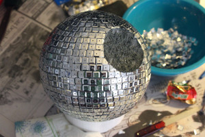 Nerdy Home Decor - Geeky Crafts - DIY Star Wars Disco Death Star