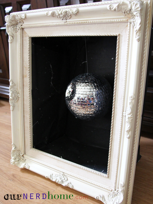 Geek Home Decor - Nerdy Crafts - DIY Disco Ball Death Star