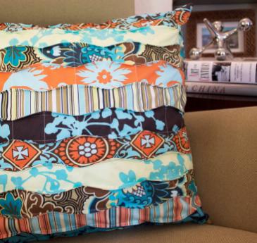 Fabric Strip Pillow