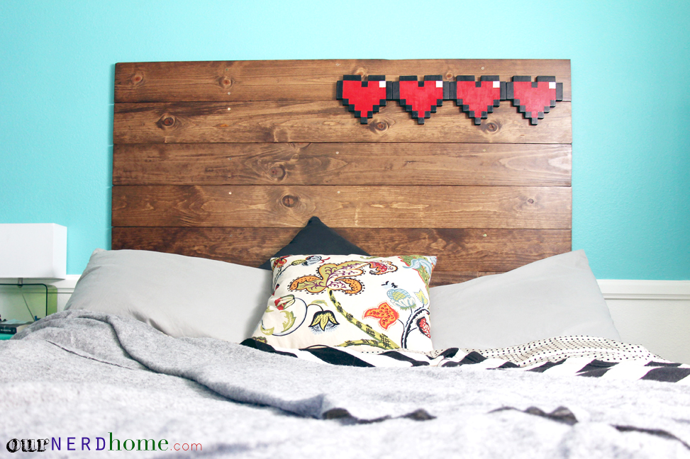 Geek Decor - 8-Bit DIY Wood Headboard