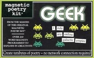 Geek kitchen - magnetic poetry