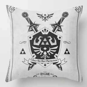 Gamer Decor - Zelda Throw Pillow