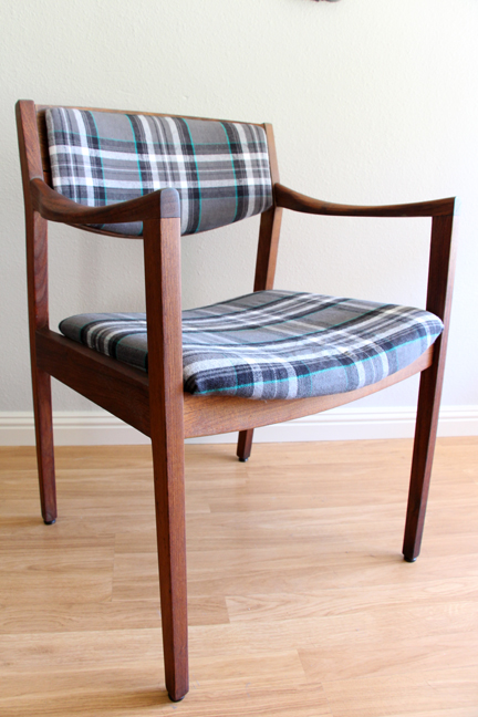 Midcentury Plaid Chair