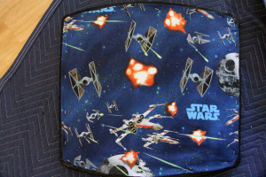 Star Wars Fabric on Midcentury Chair