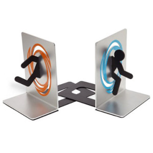 Geeky Home Decor - Portal Bookends