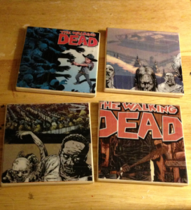 DIY Walking Dead Coasters - Zombie Crafts