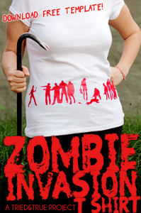 DIY Zombie Shirt - Zombie Crafts