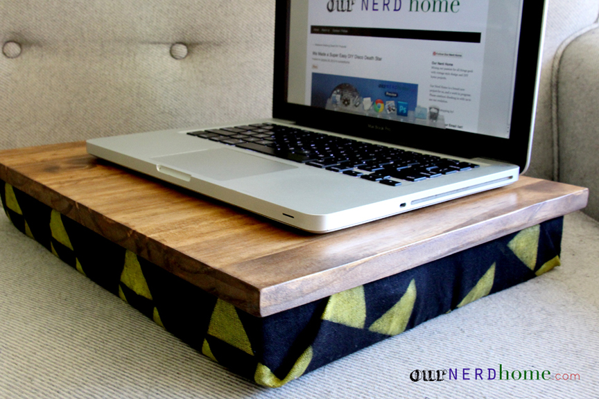 Diy Lap Desk With Hand Stamped Legend Of Zelda Fabric Diy