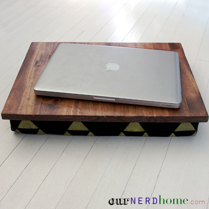 Geeky Gifts: DIY Lap Desk with Nerdy Fabric