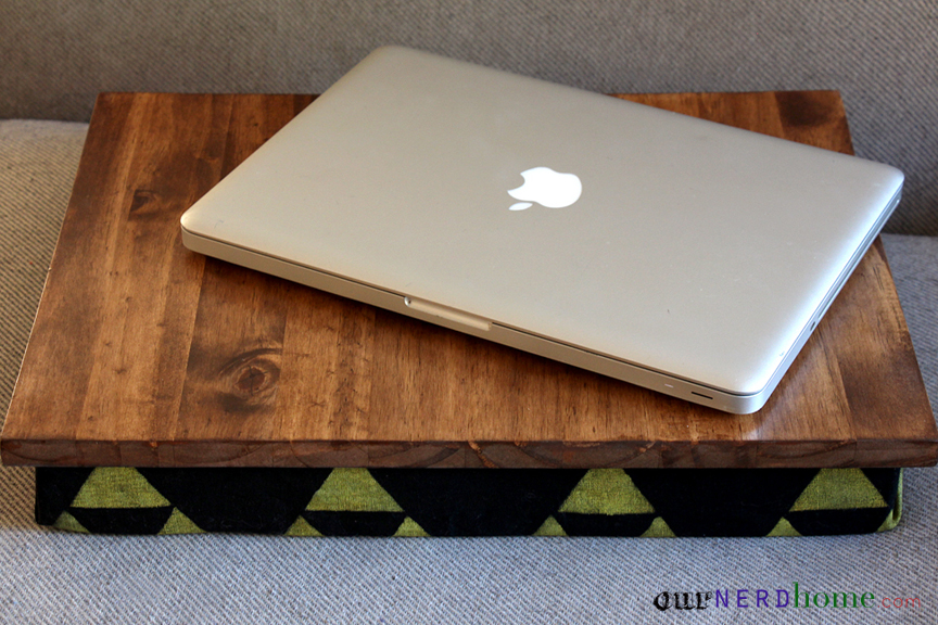 Geek Gifts: DIY Lap Desk with Hand Stamped Fabric (Legend of Zelda)