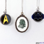 DIY Shrinky Dink Cameo Necklace - Geeky DIY - Nerdy Gift