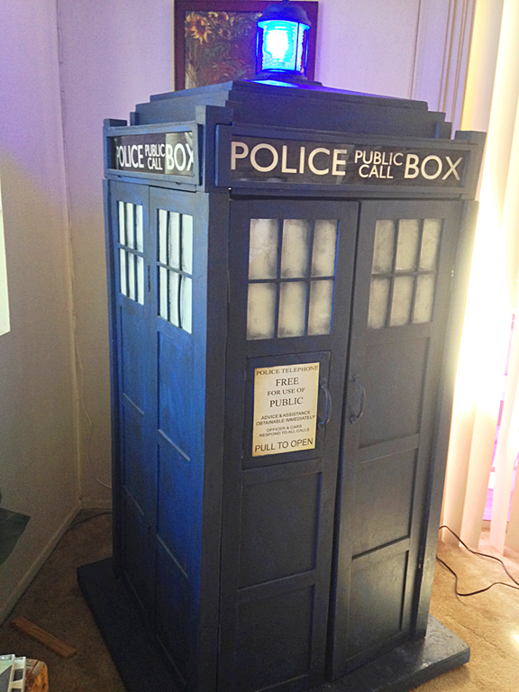 Tardis Cabinet Geek Home Decor