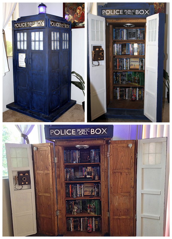 DIY TARDIS Bookshelf - Nerd Home Decor