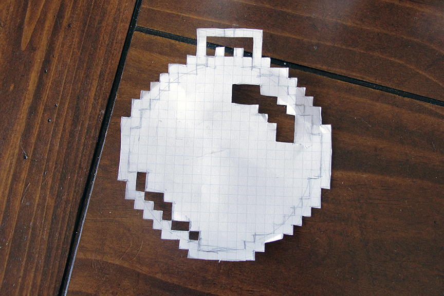 DIY 8-bit ornament