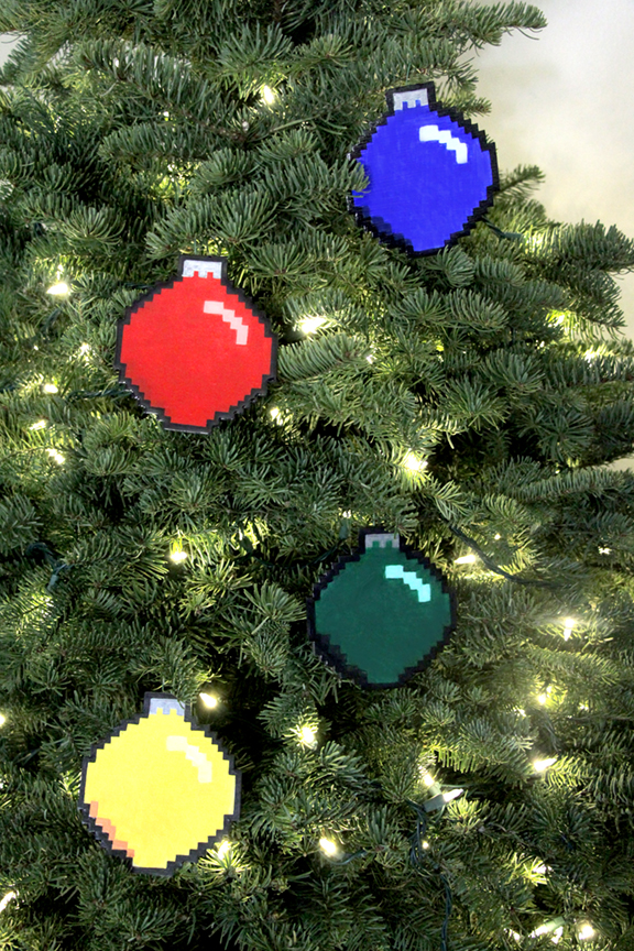 Geek Holiday - DIY 8-bit Ornaments