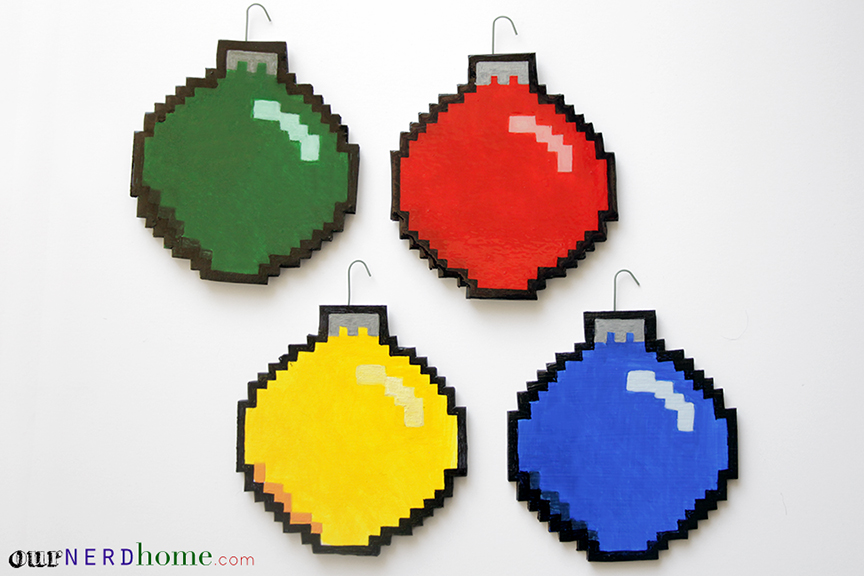 Geek Decor: DIY 8-Bit Holiday Ornaments