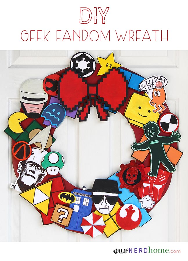 DIY Geek Holiday Wreath / 8-bit wreath