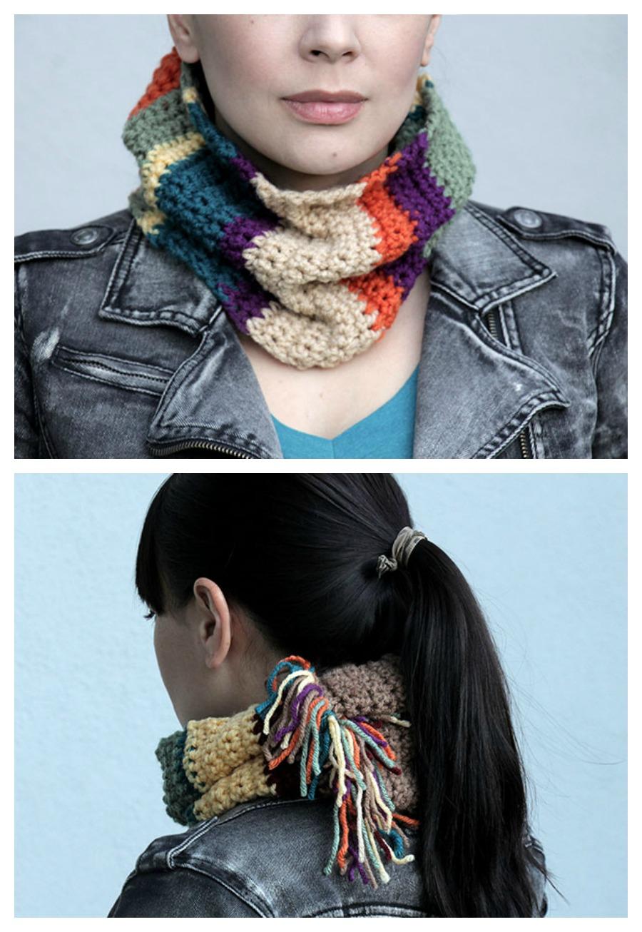Tom Baker / Doctor Who inspired cowl scarf