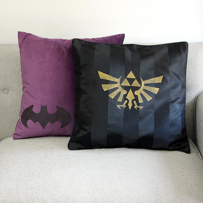 Geeky DIY Project: Custom Pillows