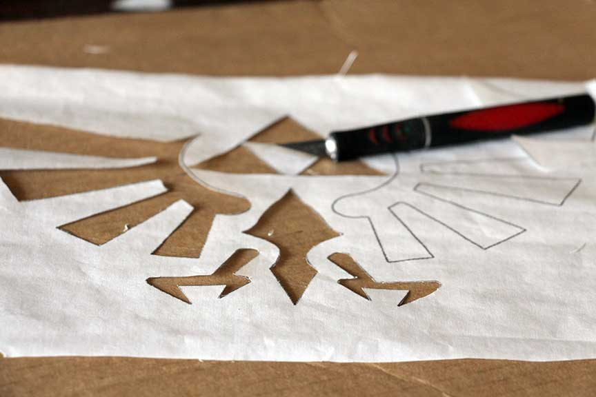 Geek Home Decor: Legend of Zelda Stencil