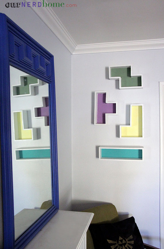 DIY Geek Home Decor: Tetris Shelves
