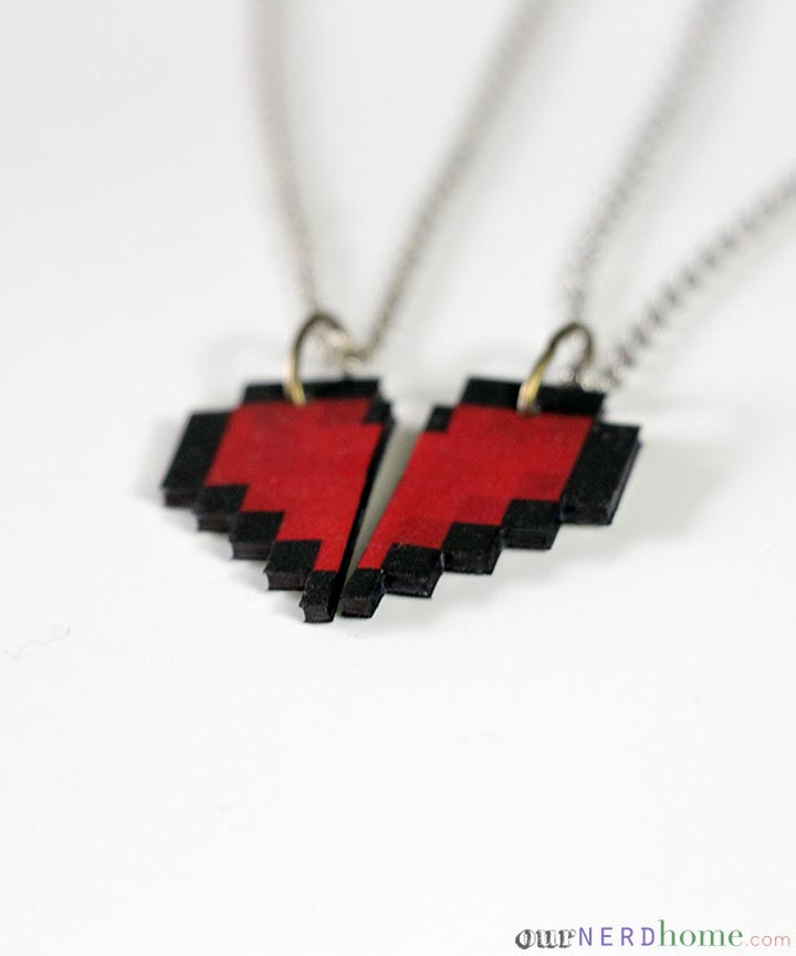 Geek Valentine: DIY 8-Bit Heart Necklace