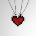 DIY Geek Valentine's Day 8-Bit Necklace Set
