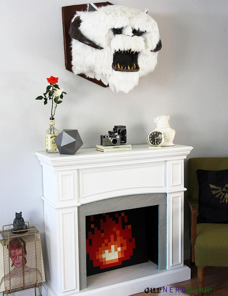 wall mounted diy star wars wampa head our nerd home
