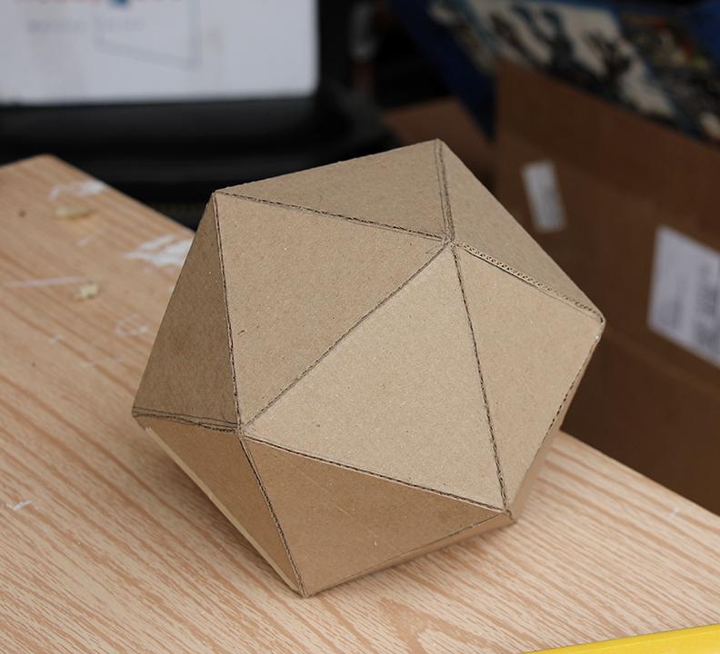DIY Cardboard D20
