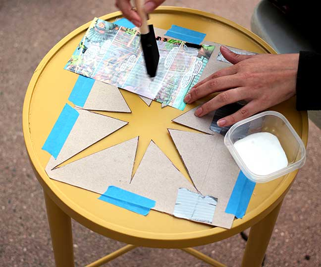 Comic Book Crafts - Decoupaged Table