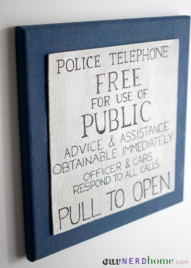 Geek Crafts: DIY TARDIS Doctor Who Cork Board