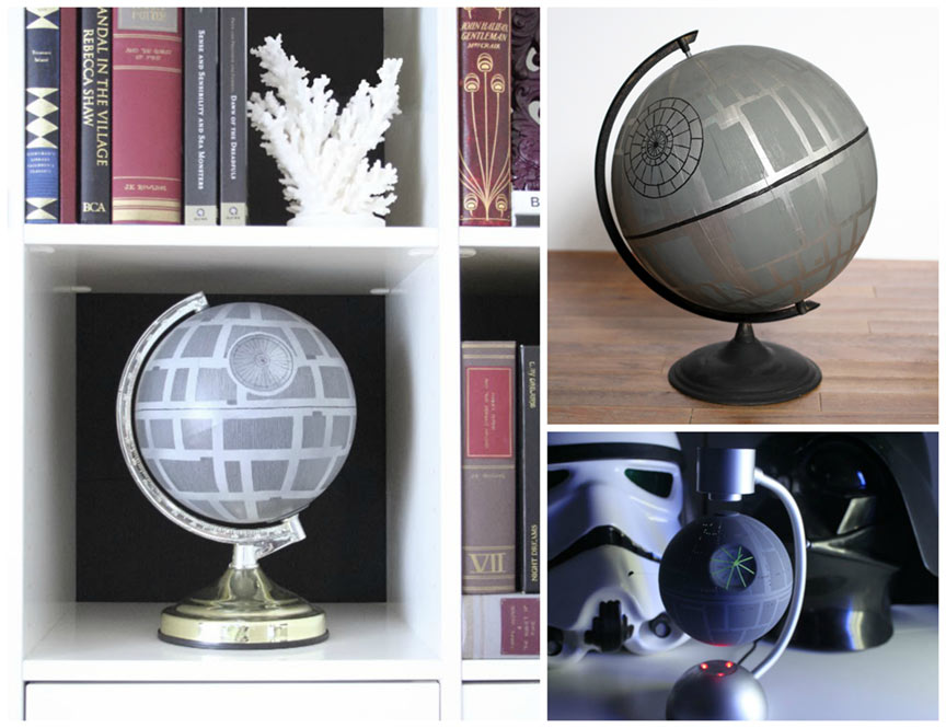 Star Wars home decor: DIY Death Star Globes