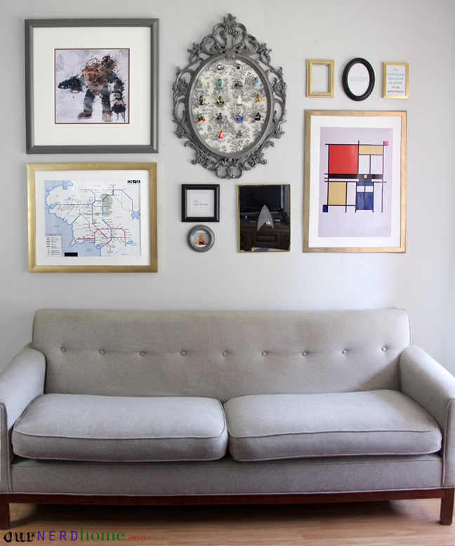 Geeky Art Print Gallery Wall