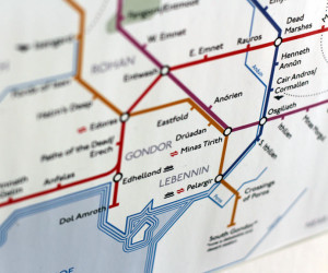 Lord of the Rings Art Print Subway Map