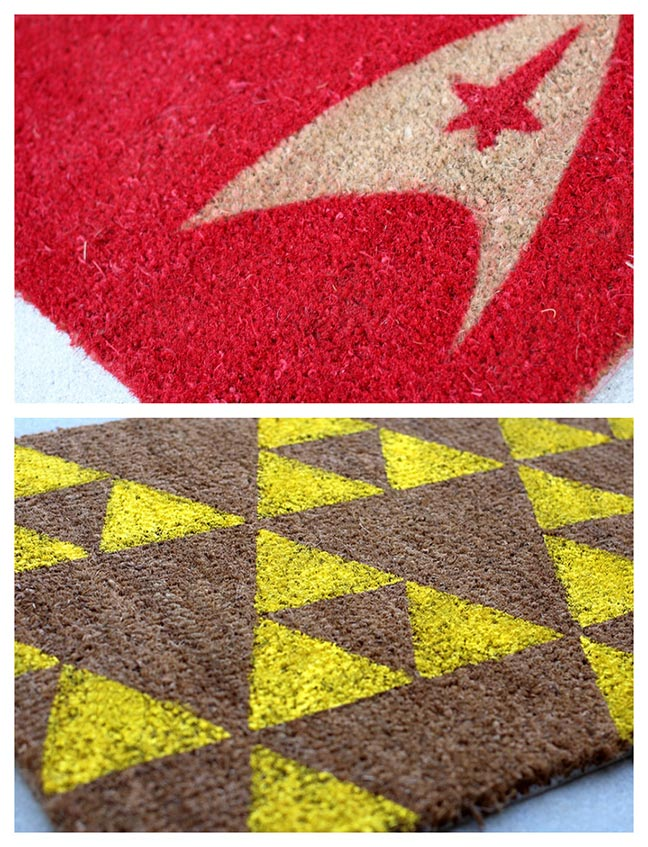 Geek Decor: DIY Geeky Welcome Mats