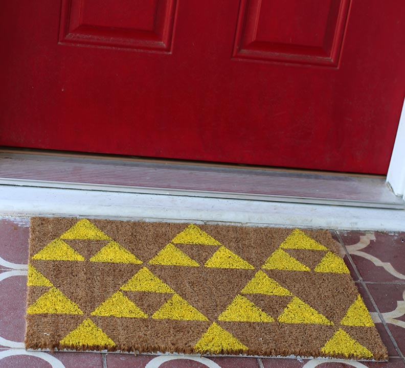 Geek Decor: DIY Legend of Zelda Welcome Mat