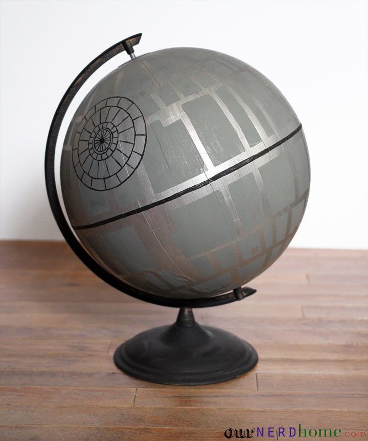 Geek Home Decor: Star Wars Death Star Globe DIY