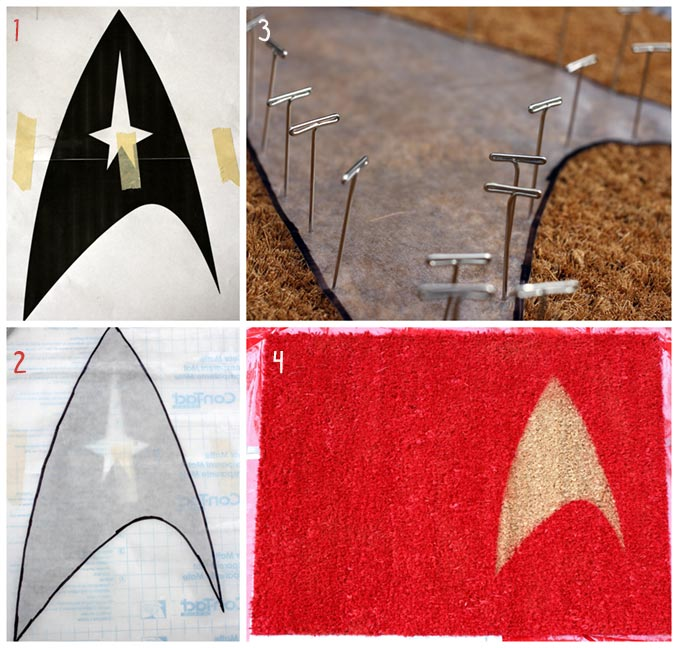 DIY Star Trek Welcome Mat