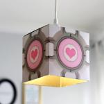 DIY Portal Companion Cube Pendant Lamp