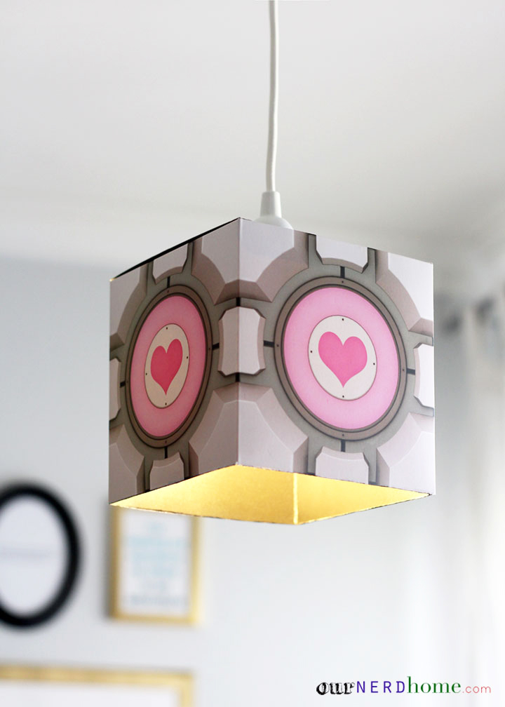 DIY Portal Companion Cube Lamp