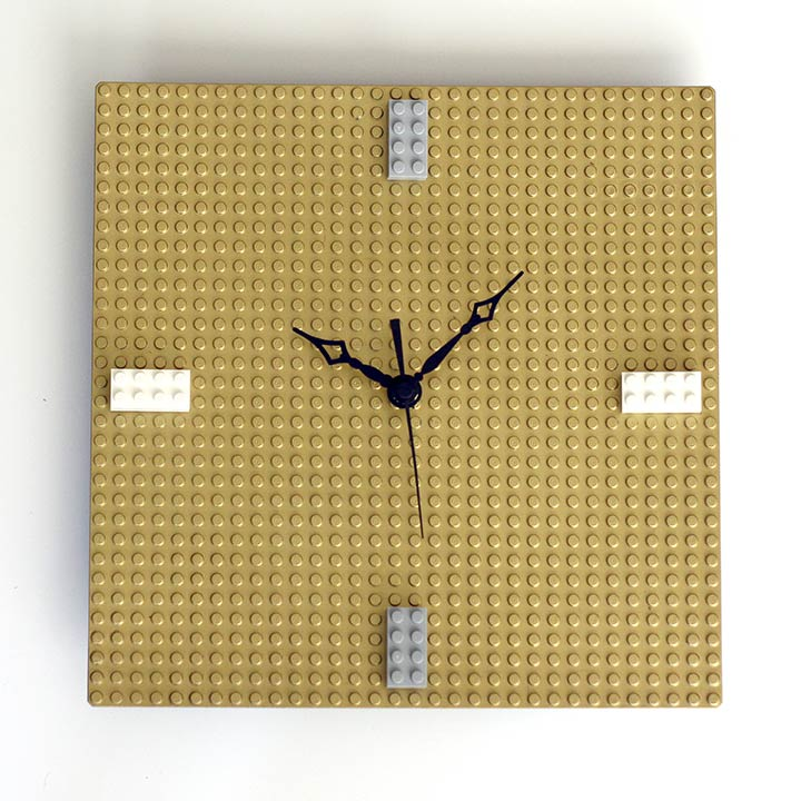 DIY Gold LEGO Clock