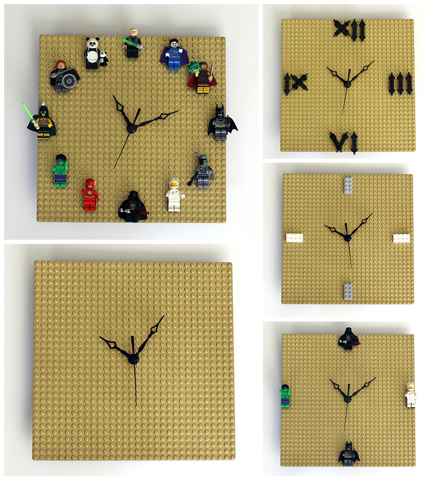 Diy lego clock customizable quick easy our nerd home for Whatever clock diy